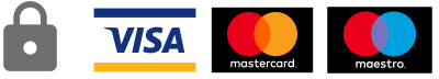 Secure card payments: Visa, Mastercard, Maestro