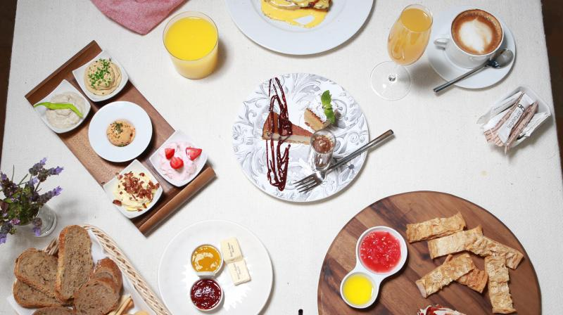 Person having breakfast