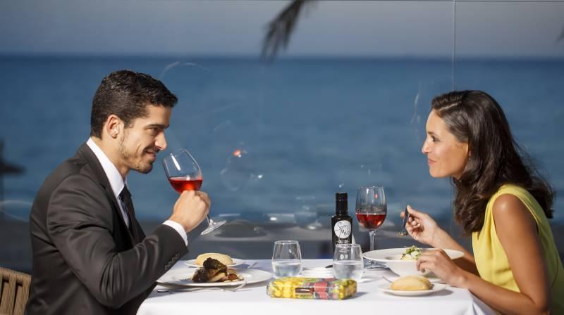 cena con vistas al mar playa de palma