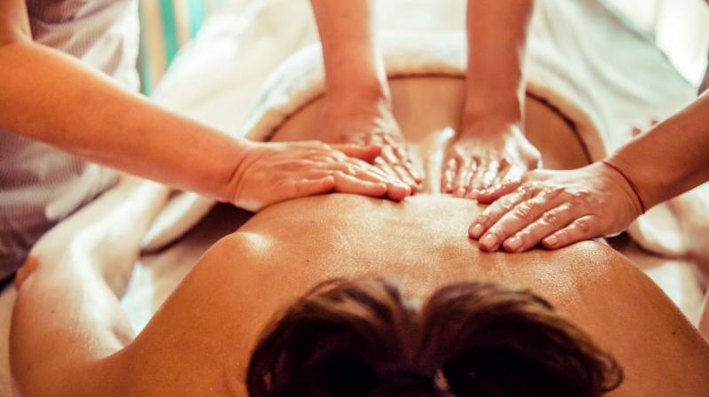masaje a 4 manos