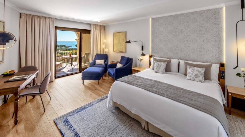 Grand Deluxe Room with Sea View at the St. Regis Mardavall Mallorca