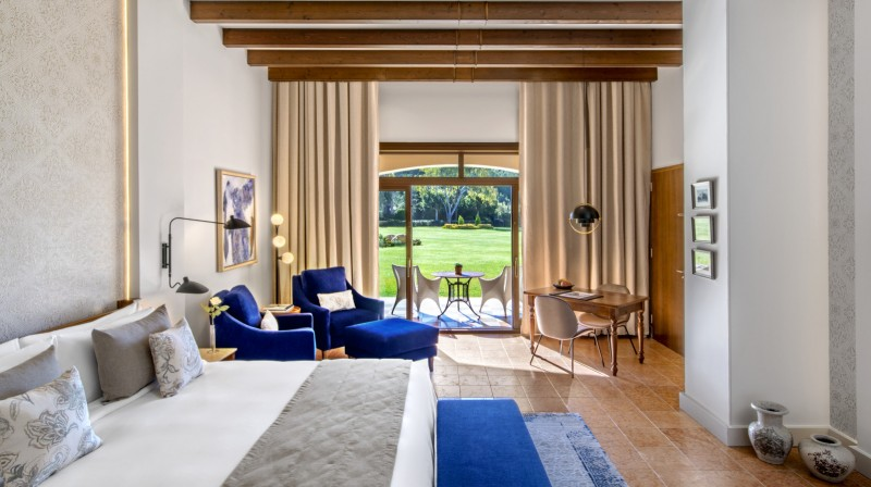 Junior Suite with Garden View at the St. Regis Mardavall Mallorca Resort