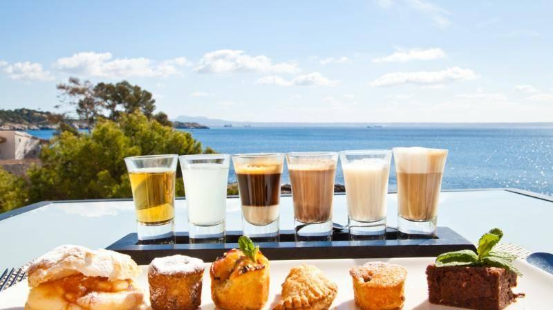 Breakfast at Hospes Maricel overlooking the Med