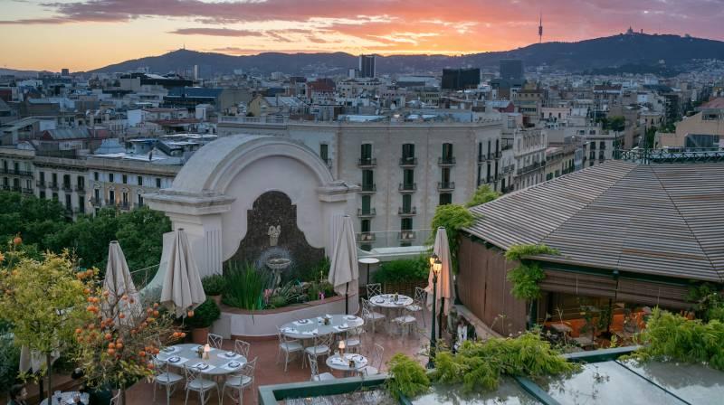 el palace rooftop garden