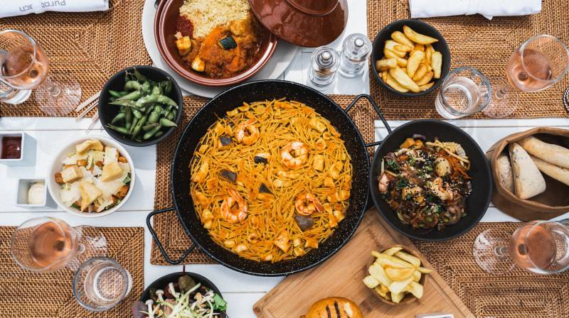 Spanish Paella by the Sea