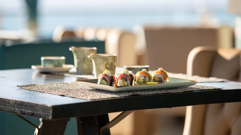 Jumeirah Port Soller sunset sushi