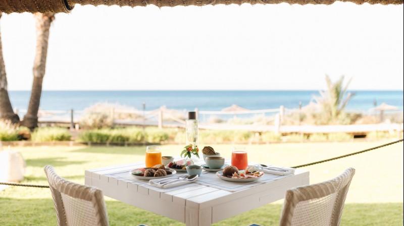 Yoga and breakfast at Gecko Hotel & Beach Club, Formentera