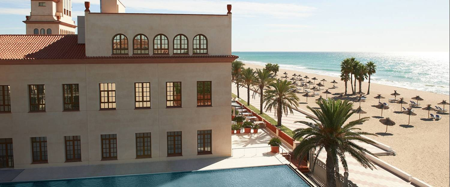 Views of the beach from Le Méridien Ra Beach Hotel & Spa