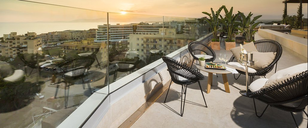 Roof top restaurant Mallorca
