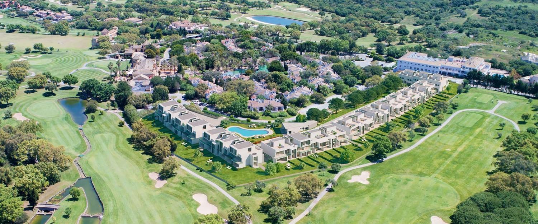 aerial golf course shot